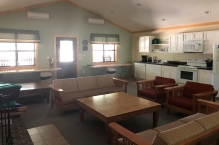 Common room in the cabin