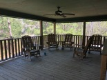 Back porch of cabin